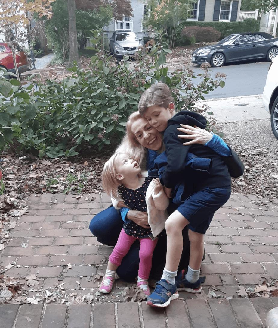 Beth and her grandchildren.