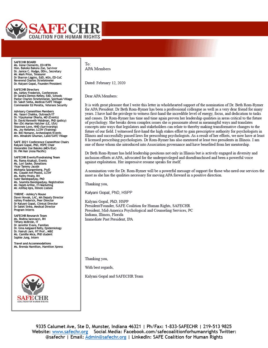 Gopal Kalyani Campaign Letter 2021 2